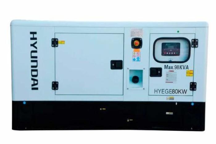 Generador estacionario Hyundai HYEGE80KW